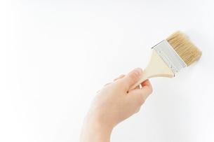 DIY・ペンキを塗る女性の写真素材 [FYI04723106]
