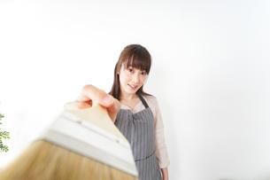 DIYをする女性の写真素材 [FYI04723107]