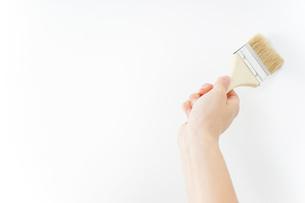 DIY・ペンキを塗る女性の写真素材 [FYI04723114]