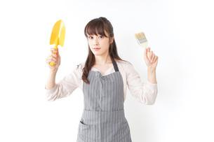 DIYをする若い女性の写真素材 [FYI04723126]