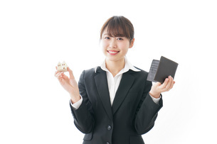 不動産と財布の写真素材 [FYI04723215]