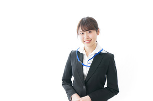 笑顔のビジネスパーソン・受付嬢の写真素材 [FYI04723333]