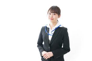 笑顔のビジネスパーソン・受付嬢の写真素材 [FYI04723342]