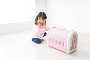 ペットの世話をする子どもの写真素材 [FYI04723889]