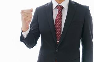 ガッツポーズをするビジネスマンの写真素材 [FYI04724237]