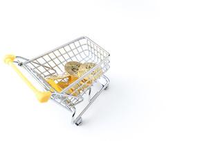 ビットコインでショッピングの写真素材 [FYI04724565]