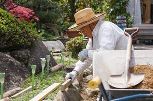 土木工事をする高齢の男性の写真素材 [FYI04724854]