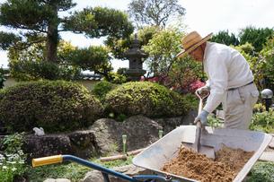 土木工事をする高齢の男性の写真素材 [FYI04724862]