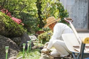 土木工事をする高齢の男性の写真素材 [FYI04724866]