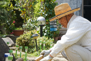 土木工事をする高齢の男性の写真素材 [FYI04724872]