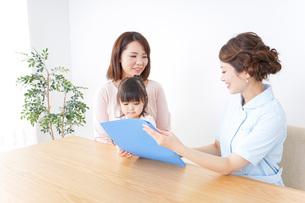 検診を受ける親子の写真素材 [FYI04725880]