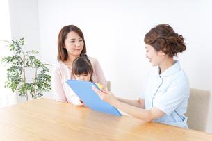 検診を受ける親子の写真素材 [FYI04725883]