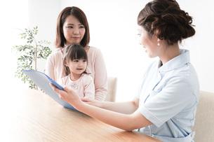 検診を受ける親子の写真素材 [FYI04725889]