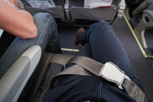飛行機・シートベルトの写真素材 [FYI04727600]