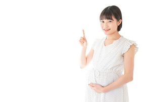 妊娠した若い女性の写真素材 [FYI04727694]