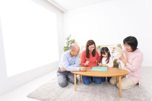幸せな家族の集合写真の写真素材 [FYI04727720]