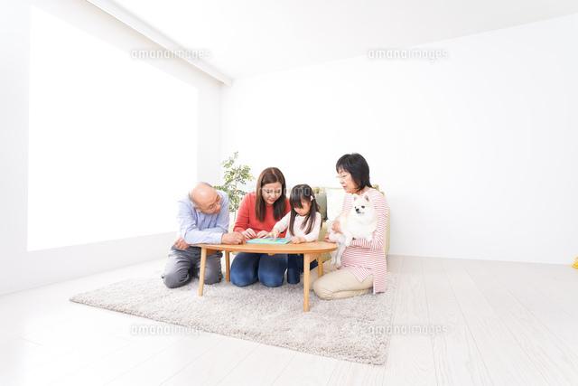 幸せな家族の集合写真の写真素材 [FYI04727722]