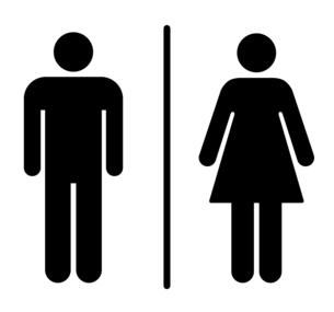 トイレのアイコン 男女のサインのイラスト素材 [FYI04728145]