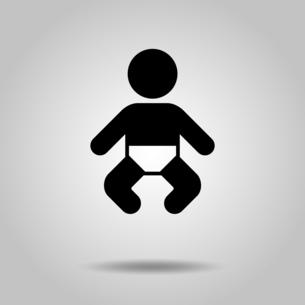 赤ちゃん アイコンのイラスト素材 [FYI04728149]