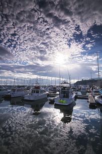 小樽港マリーナの朝の写真素材 [FYI04728327]