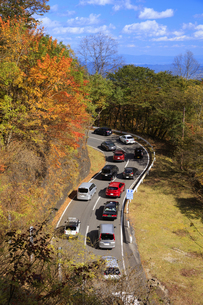 秋のいろは坂の渋滞の写真素材 [FYI04728442]