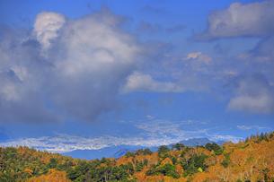 美ケ原自然保護センター付近から望む上田市街と雲の写真素材 [FYI04728648]