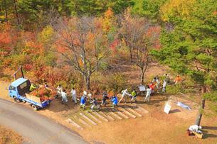 令和2年大北地区森林祭のヤマツツジ植樹の写真素材 [FYI04728695]