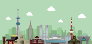 東京 街並み・ランドマーク・ビル群 背景イラストのイラスト素材 [FYI04729107]