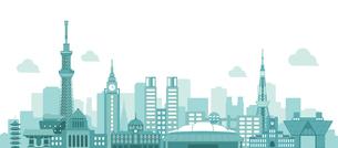 東京 街並み・ランドマーク・ビル群 背景イラストのイラスト素材 [FYI04729109]