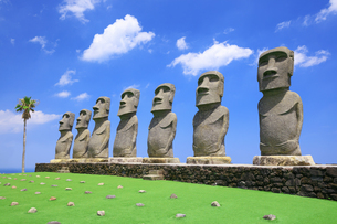 サンメッセ日南のモアイ像の写真素材 [FYI04729302]
