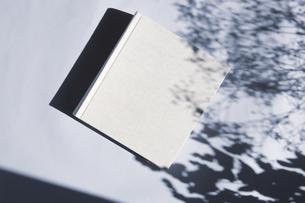 植物の影と生成りの生地のフォトアルバムの写真素材 [FYI04729400]
