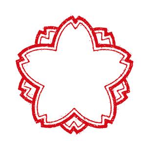 桜模様 スタンプアイコン フレーム (文字無し)のイラスト素材 [FYI04729462]