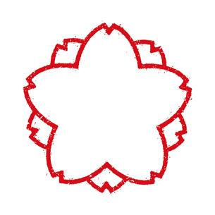 桜模様 スタンプアイコン フレーム (文字無し)のイラスト素材 [FYI04729463]