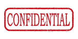 ビジネス用スタンプ イラストアイコン 「CONFIDENTIAL」のイラスト素材 [FYI04729485]