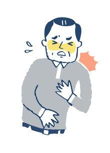 胸が苦しい男性のイラスト素材 [FYI04729577]