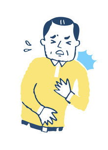 胸が苦しい男性のイラスト素材 [FYI04729578]