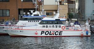 横浜水上警察の警備艇の写真素材 [FYI04730034]
