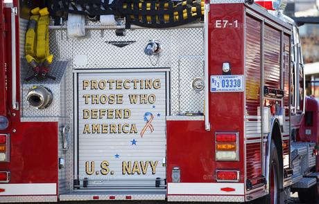 アメリカの消防車の写真素材 [FYI04730051]