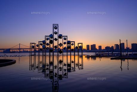東京 晴海埠頭の夜景の写真素材 [FYI04730161]