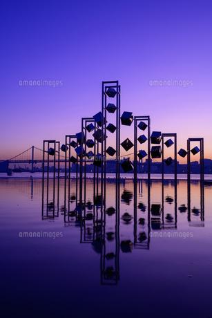 東京 晴海埠頭の夜景の写真素材 [FYI04730163]