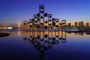 東京 晴海埠頭の夜景の写真素材 [FYI04730190]