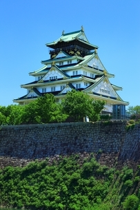 大阪城天守閣の写真素材 [FYI04730572]