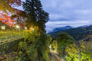 阿夫利神社駅から伊勢原市方面の風景の写真素材 [FYI04730935]