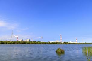 茨城県 神之池 緑地公園より鹿島工業地帯を望むの写真素材 [FYI04731003]