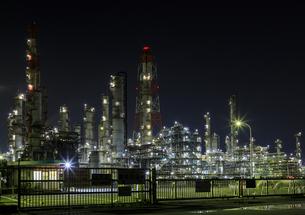 茨城県 鹿島の工場夜景の写真素材 [FYI04731010]