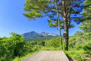 福島県 五色沼周辺より磐梯山を望むの写真素材 [FYI04731060]