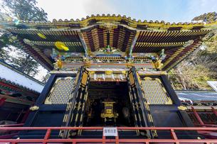 日光東照宮 三基の神輿が納められる神輿舎の写真素材 [FYI04731167]