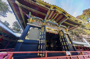日光東照宮 三基の神輿が納められる神輿舎の写真素材 [FYI04731169]