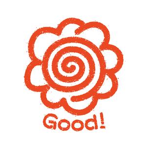 花丸 スタンプアイコン Good!のイラスト素材 [FYI04731277]