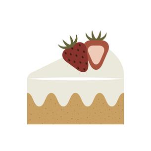 いちごのショートケーキ イラストのイラスト素材 [FYI04731311]